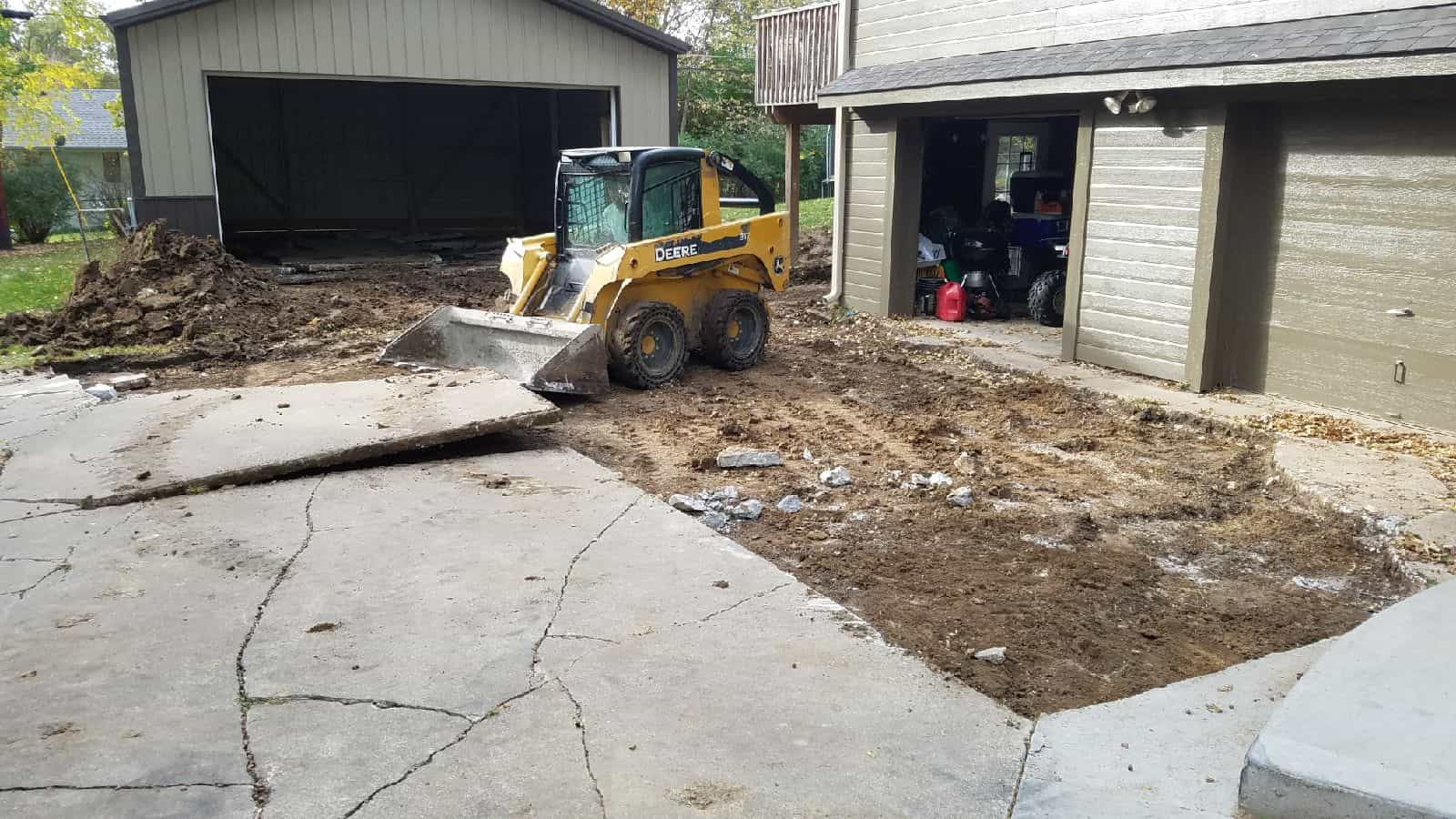 how to tear out concrete