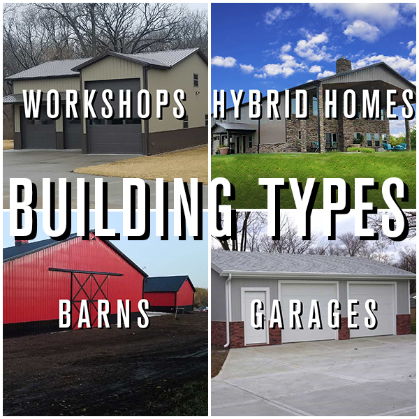 Custom built Barns, Hybrid Homes, Workshops, and garages, builders in Kansas City